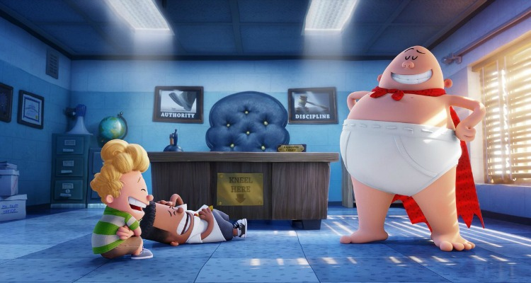 captain underpants, comedy, superhero, animated, adaptation, coming soon, review, dreamworks animation, 20th century fox