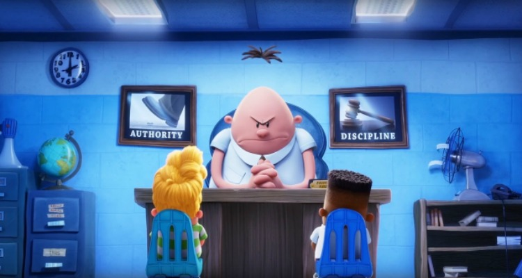 captain underpants, comedy, animated, superhero, adaptation, coming soon, review, dreamworks animation, 20th century fox